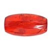 "Resin Beads 26x12mm Oval 8"" Strand Crack Red"